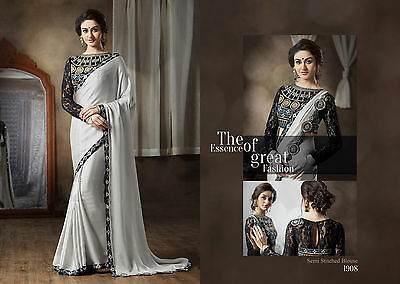 Pakistani Indian Bollywood Ethnic Designer saree Bridal Traditional New sari 208