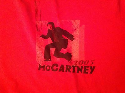 Paul McCartney 2005 US Tour Shirt - large tee official great condition
