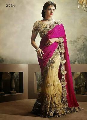 Pakistani Indian Bollywood Ethnic Designer saree Bridal Traditional New sari 202