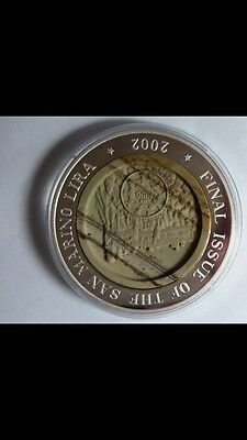 2002 korea  final issue san marino  lira silver  COIN