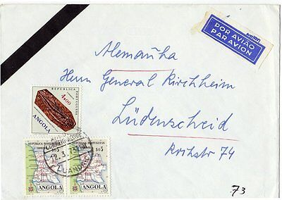 Angola, Airmail cover, Label, 1973