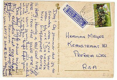 Angola, Airmail PPC, Label, 1972