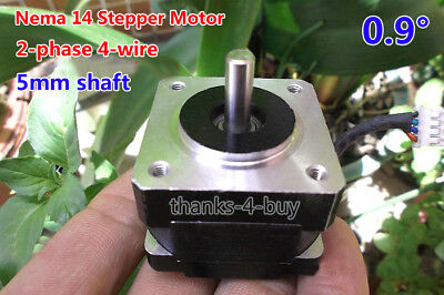 NEMA 14 35mm 2-phase 4-wire Stepper Motor for 5mm pulley RepRap Prusa 3D printer