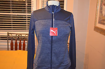 Womens Puma golf warm cell color block full zip jacket Sz S NEW WITH TAGS NWT
