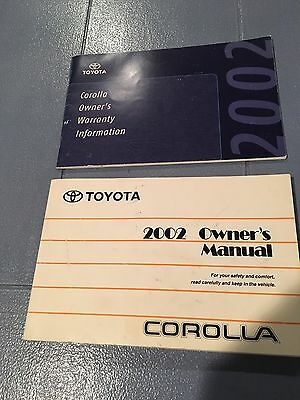 2002 Toyota Corolla Owners Manual Guide Book