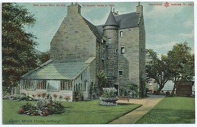 Vintage Postcard. Queen Mary's House, Jedburgh. Unused. Ref:6-154