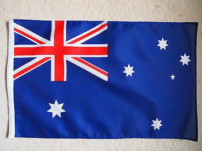 Australian Flag 18 x 12 inches stitched all round with Slot for a Stick