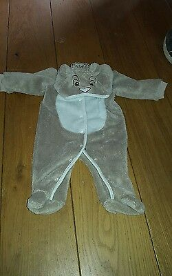 Disney Lion King Simba Baby Outfit sort rompers snowsuit ears on hood warm 0-3