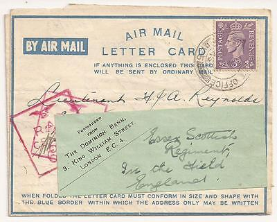 WWII Canadian Letter, RCAF Bomber Pilot. 37 Squadron RAF. North Africa 1942.