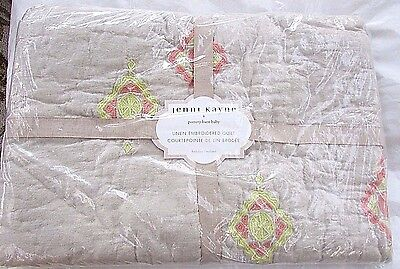Pottery Barn Kids Jenni Kayne Linen Embroidered Crib/toddler Quilt , New