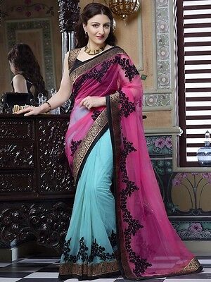 Pakistani Indian Bollywood Ethnic Designer saree Bridal Traditional New sari 194