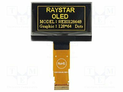 1 pc Display: OLED; graphical; 128x64; Dim:45.24x29.14x2.05mm; yellow