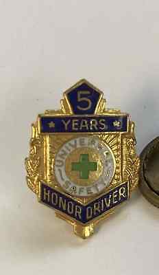 Vintage Honor Driver Award  5 Years  Safety Pin