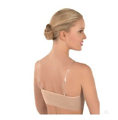 Eurotard Euroskins 95620 Women's Medium Nude Seamless Bra w/ Clear Adj. Straps