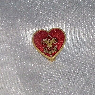Vintage Boy Scout Girl Scout Be Prepared Mothers Heart Pin Snake Mark