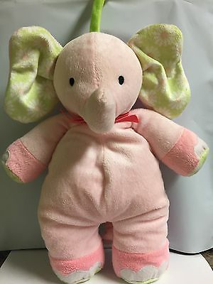 Carters Pink Elephant Musical Baby Toy Lovey Twinkle Little Star Stuffed Animal