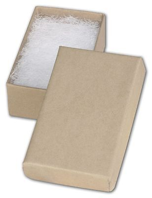 """Jewelry Gift Boxes 100 # 21 Retail Earring Cotton Filled 2 ½"""" X 1 ½"""" X 7/8 Kraft"""