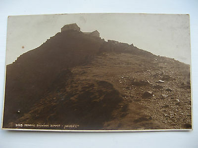 NEARING SNOWDON SUMMIT - unposted JUDGES PUBLICATION EARLY 1900's
