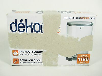 Dekor Plus Diaper Disposal System 2 Pail Trash Refills Scented Hold Up to 1160