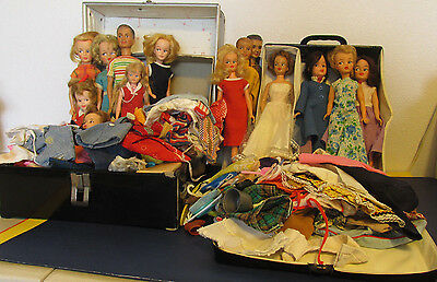 Vintage Tammy & Family HUGE LOT 200 + Dolls 2 Cases Clothes Shoes Accessories