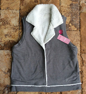 Jenni By Jennifer Moore Reversible Vest, Grey/White, MSRP $39.5
