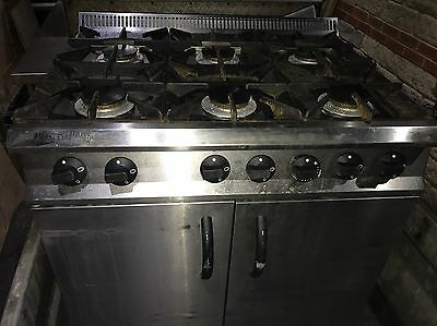 commercial 6 ring gas cooker with oven moorwood vulcan masterchef