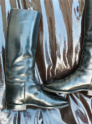 Vintage Officer´s Boots Riding Boots Reitstiefel size 9 43 rahmengenäht