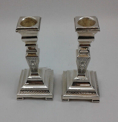 Candlesticks Candle Sticks - Set of 2 Pair - Sterling Silver 925 - 142 grams
