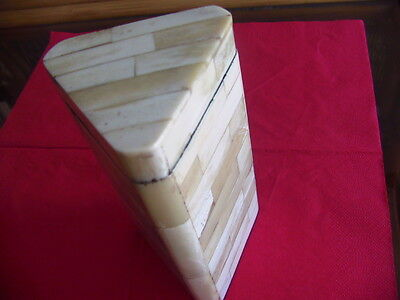 African collectable three sided box
