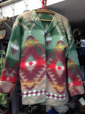 Vintage 1940's Or 50's Handmade Indian  Sweater Or Jacket
