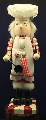 """Chef Baker Nutcracker Peppermint Candy Kitchen Sweets Christmas Culinary 15"""""""
