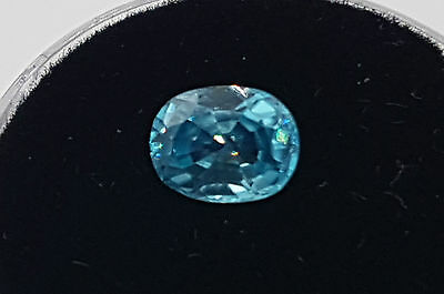 Natural earthmined Cambodian blue Zircon Oval Cut 1.20ct