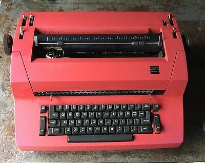 1970s Vintage RED ! IBM Selectric II Electric Typewriter MID CENTURY MODERN