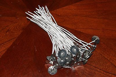 CANDLE WICKS 50pcs Pretabbed 6 inch COTTON CORE Candle Making Supplies