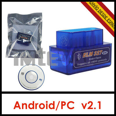 ELM327 Bluetooth Diagnosis scaner coche ODBII ODB2 V2.1 mini multimarca Android