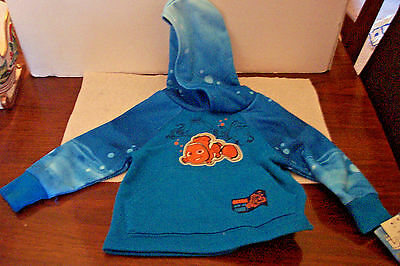 Disney Finding Dory Nemo Blue 18m Pullover Hoodie NWT