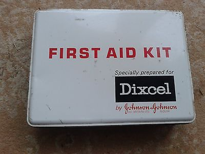 Vintage Automemroabilia Dixcel First Aid Kit with some original contents unused