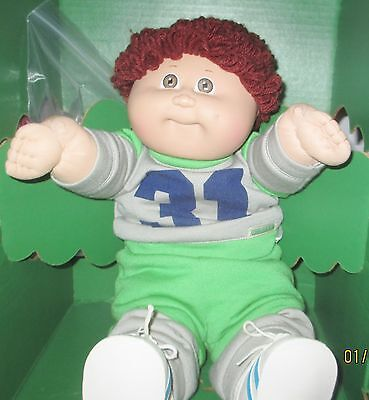 Chubby Auburn Poodle Hair Cabbage Patch Football Player! Original clothes! LQQK!