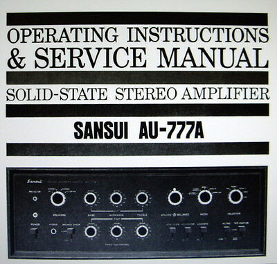 Sansui Au-777A Ss St Amp Operating Instructions And Service Manual Bound English