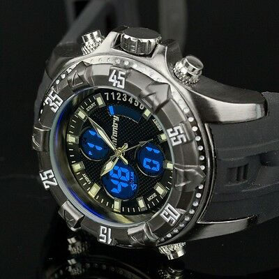 Infantry Mens Digital Quartz Wrist Watch Chrono Alarm Sports Army Rubber Black