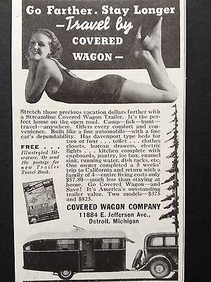 Vintage Ad 1935 (X31)~Covered Wagon Trailer Co. Detroit, Mich.