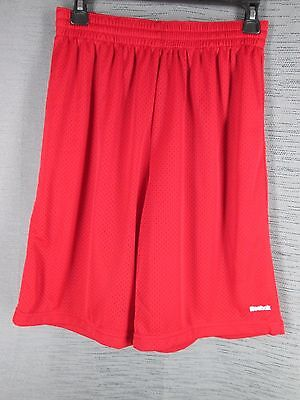 Reebok Red Jersey Basketball Shorts Casual Boy's Youth L Large Fitness Sports