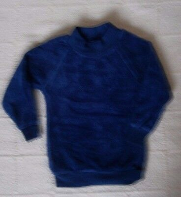 Vintage Baby Stretch Velour Long Sleeve Top - Age Up to 1Year - Navy - New