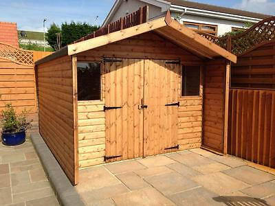 12x8 shed with canopy