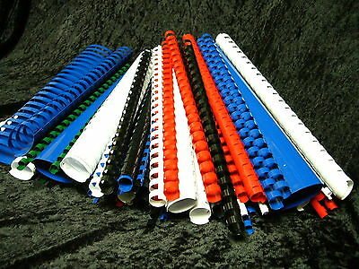 100 x Binding Combs A4 White Black Blue Red Green 6 8 10 12 14 16 19 20mm AA6