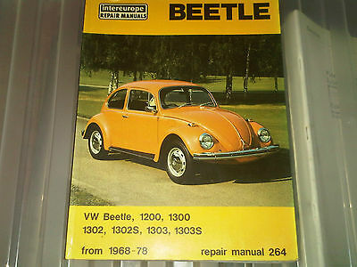 VW Beetle 1200 1300 1302 1302S 1303 1303S Owners Workshop Manual inc Convertible
