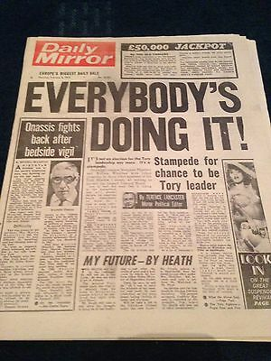 Daily Mirror Vintage Newspaper 6.2.75 Election For The Tory Leadership