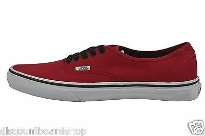 VANS AUTHENTIC CHILI Pepper RedBlackWhite Classic Skate
