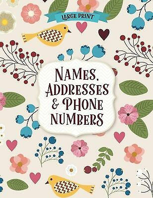 Large Print Address Book NEW FREE SHIPPING