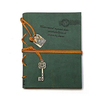 EvZ Journal Diary String Key Retro Vintage Classic Leather Bound Notebook NEW